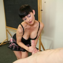 Ivy Reins is wanking her teacher for being a bad girl