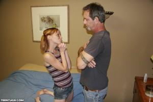 Alyssa Hart begs her stepdad to not punish her
