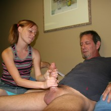 Alyssa Hart gives her stepdad a tugjob