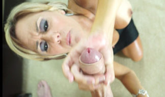 Felicity Rose is wanking her stepson's cock
