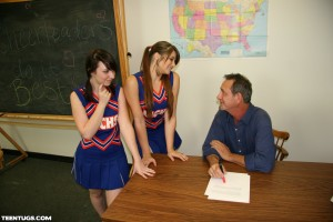 Pocahontas and Dakota Charms try to bribe their teacher