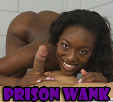 Black hand and white cock in prison