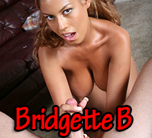 Bridgette B giving a lubed wank to a big thick cock