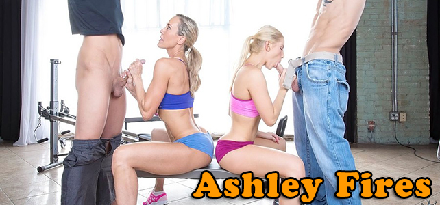 Ashley Fires gives a CFNM Handjob