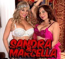 Sandra and Marcella preparing for blowjob