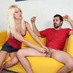 Caroline de Jaie Loves Jerking Big Dick