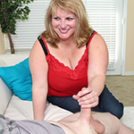 Blonde Milf With Huge Boobs Sucks A Boner