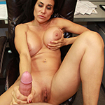 Brunette Milf With Big Tits Strokes A Big Boner