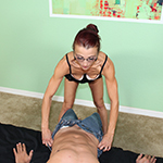 Milf Ella Meadows gives a great handjob