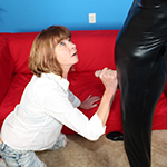 Naughty Milf Dee Delmar Jerks Off The Mysterious Guy At Clubtug.com