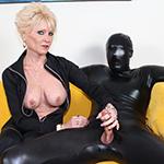 Mature Nikki Sixxx Dominates Her Helpless Masked Slave