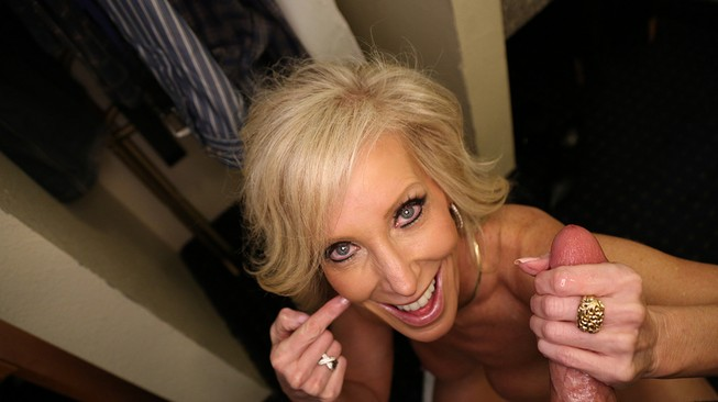 Tiffany Lebroc says fuck you to her husband while jerking off his son