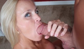 Dani Dare finally makes an attempt to get his huge cock into her MILF mouth