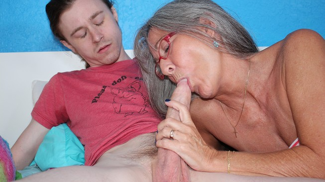 connors stepmom sucking his cock