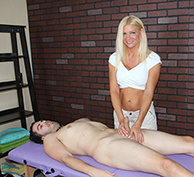 mean massage christina skye starts off by stroking his cock