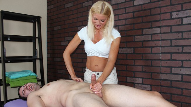 mean massage christina skye tortures his cock