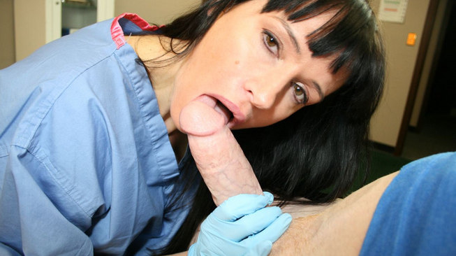 seemomsuck rubber glove blowjob with angie noire