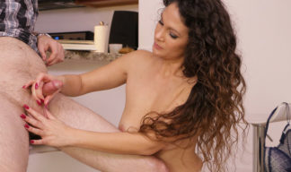 topless jessica torres strokes a big cock on over40handjobs