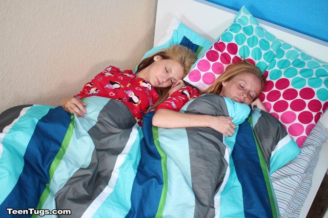 Hope Harper and Alyssa Hart Sleeping Handjob