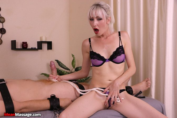 Jane Latex Tied, Teased and Tortured Him