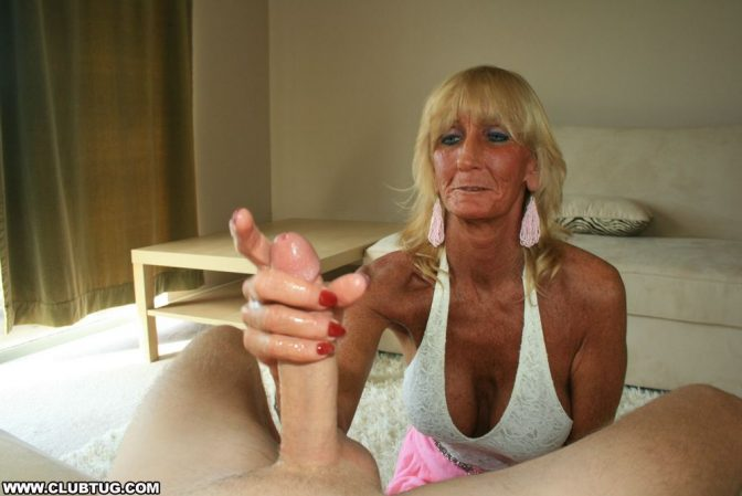 Mature Granny Jacking Young Boy