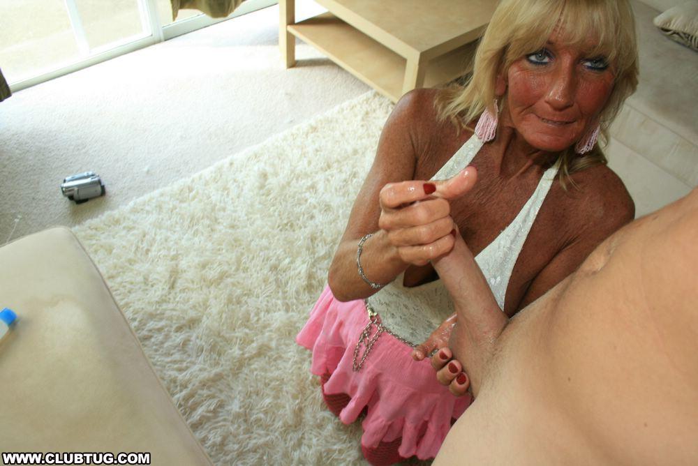 granny handjob porn