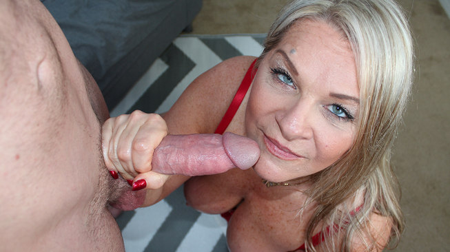 chloe holds onto his cock very tight