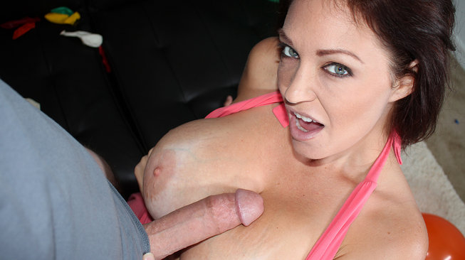 charlee chase licking his cock on seemomsuck