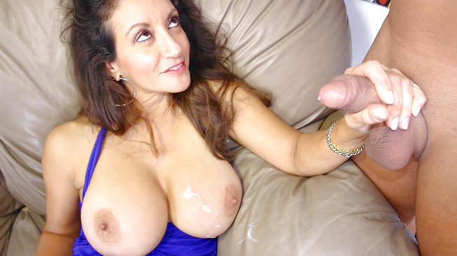 persia monir gets her boobs covered with cum